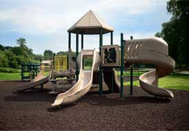 Playground Rubber Mulch Mocha Brown Park