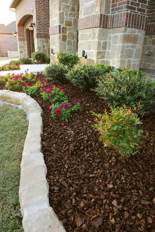 Mailbox Garden Ideas Red Mulch Photograph Landscaping Rubb