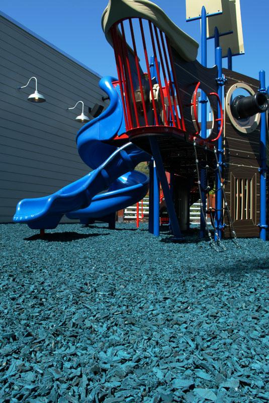 Blue Playground Safety Surface Rubber Mulch