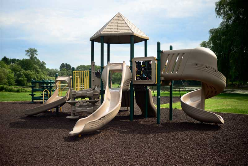 Brown Playground Rubber Mulch safety surface