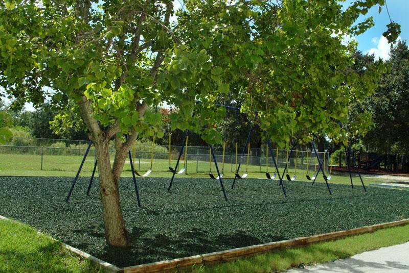 Green Rubber Mulch Playground Safety Surface