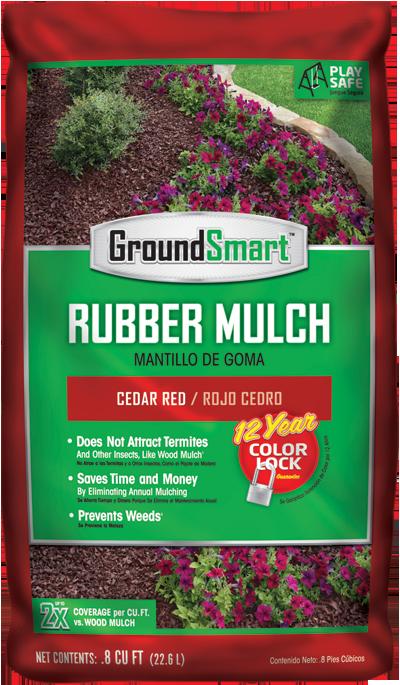 Red Rubber Mulch Cedar Bag Package