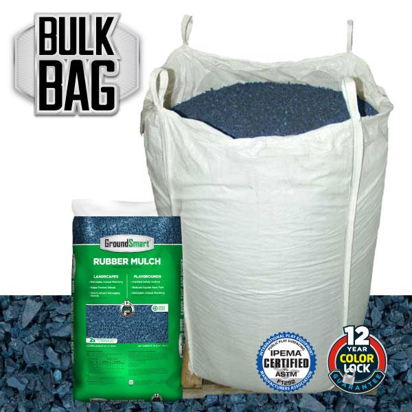 Bulk Rubber Mulch Ordering | GroundSmart Bulk Bag | Blue