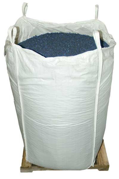 Blue Rubber Mulch Supersack bulk package