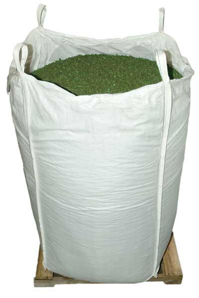 Green Rubber Mulch Supersack bulk package