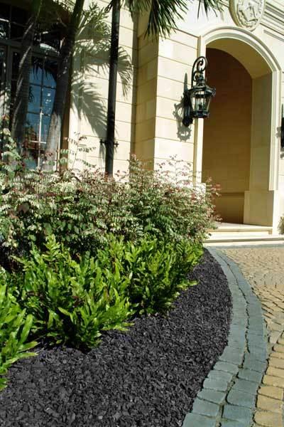 residential landscape groundsmart black rubber mulch - Black Rubber Mulch