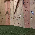 Training Surface Blue Climbing Wall | GroundSmart Rubber Mulch