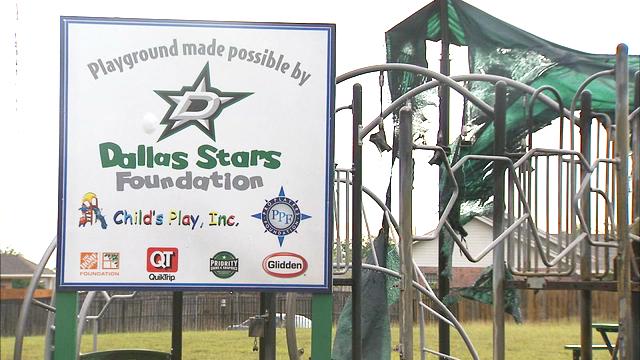 GroundSmart Rubber Mulch Dallas Playground Fire