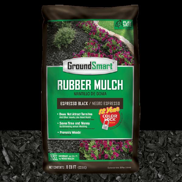 Landscape Rubber Mulch | Espresso Black | GroundSmart