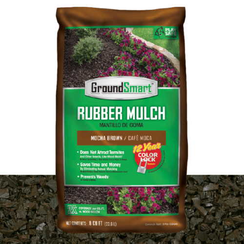 Landscape Rubber Mulch | Mocha Brown | GroundSmart