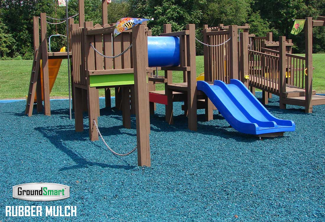 Blue Rubber Mulch for Playgrounds