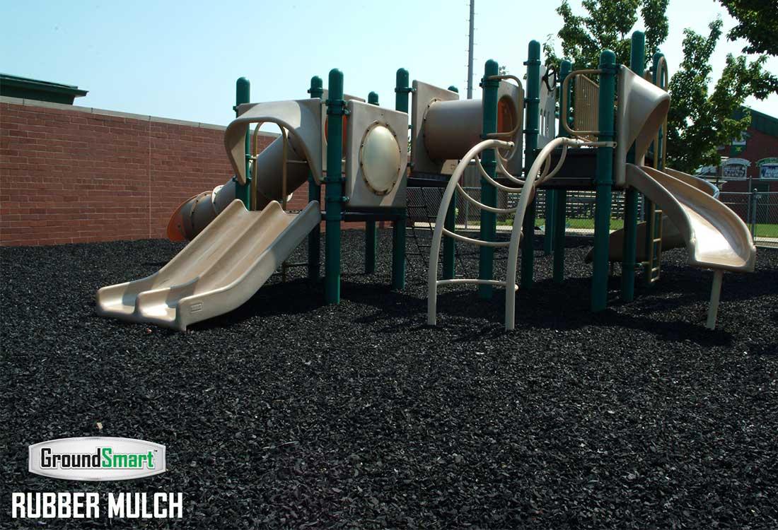 Espresso Black Rubber Mulch for Playgrounds