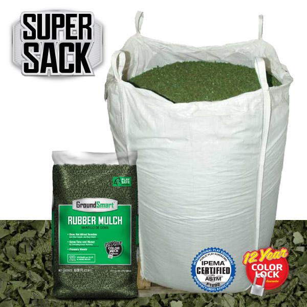 Bulk Rubber Mulch Ordering | GroundSmart Super Sack | Green