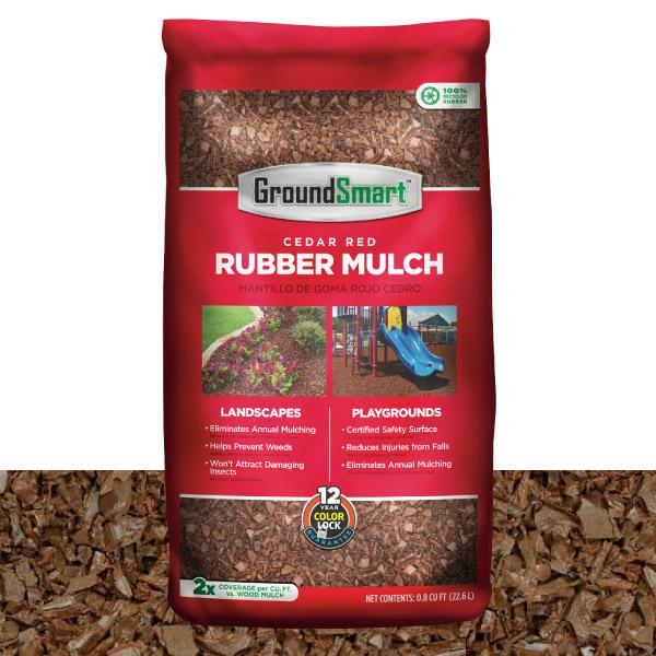 Rubber Mulch | Cedar Red | GroundSmart