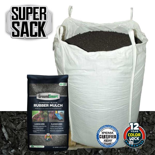 Bulk Rubber Mulch Ordering | GroundSmart Super Sack | Espresso Black