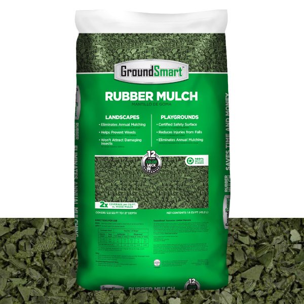 Rubber Mulch | Green | GroundSmart