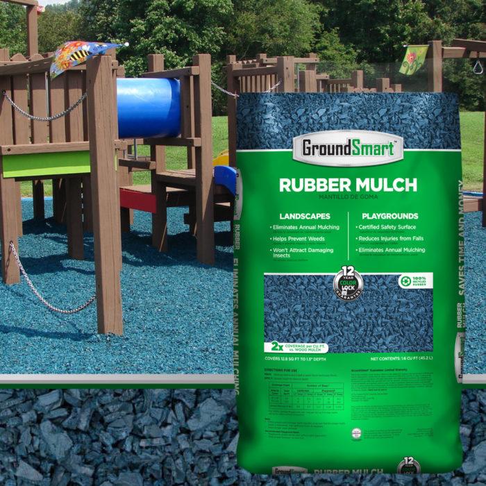 Blue Rubber Mulch | GroundSmart
